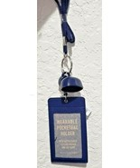 BATH & BODY WORKS NAVY BLUE LANYARD POCKET *BAC HOLDER NAVY BLUE badge h... - £17.44 GBP