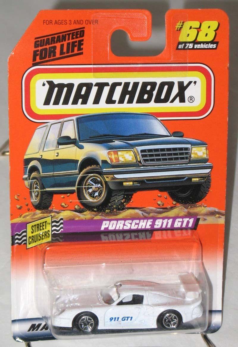 1998 matchbox street cruisers porsche 911 gt1 white 68 moc comic book heroes. Black Bedroom Furniture Sets. Home Design Ideas