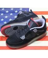Nike Air Force 1 Jordan Fusion AJF 4 IV Bred Black/Red VTG Retro [364342... - $177.77