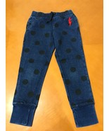 Girls Kids The Gap Blue Polka Dotted Strech Jeans Size Small 6-7 - $9.89