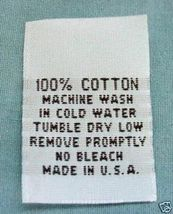 LOT OF 100 WOVEN CLOTHING LABELS, SIZE TAGS 100... - $6.99