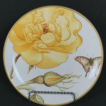 Williams Sonoma Jardin Des Fleurs Salad Dessert Plate Yellow Rose-Butterfly - $19.00