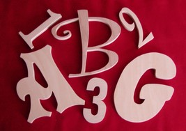"""10 """" Unfinished Wood Letters-Wall Letters or Numbers - $5.25"""