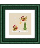 Our Christmas Tree bird holiday PDF cross stitch charts Helga Mandl Designs - $5.00