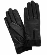 Charter Club Women's Leather with Knit Cuff Gloves (Small, Black) - $38.51
