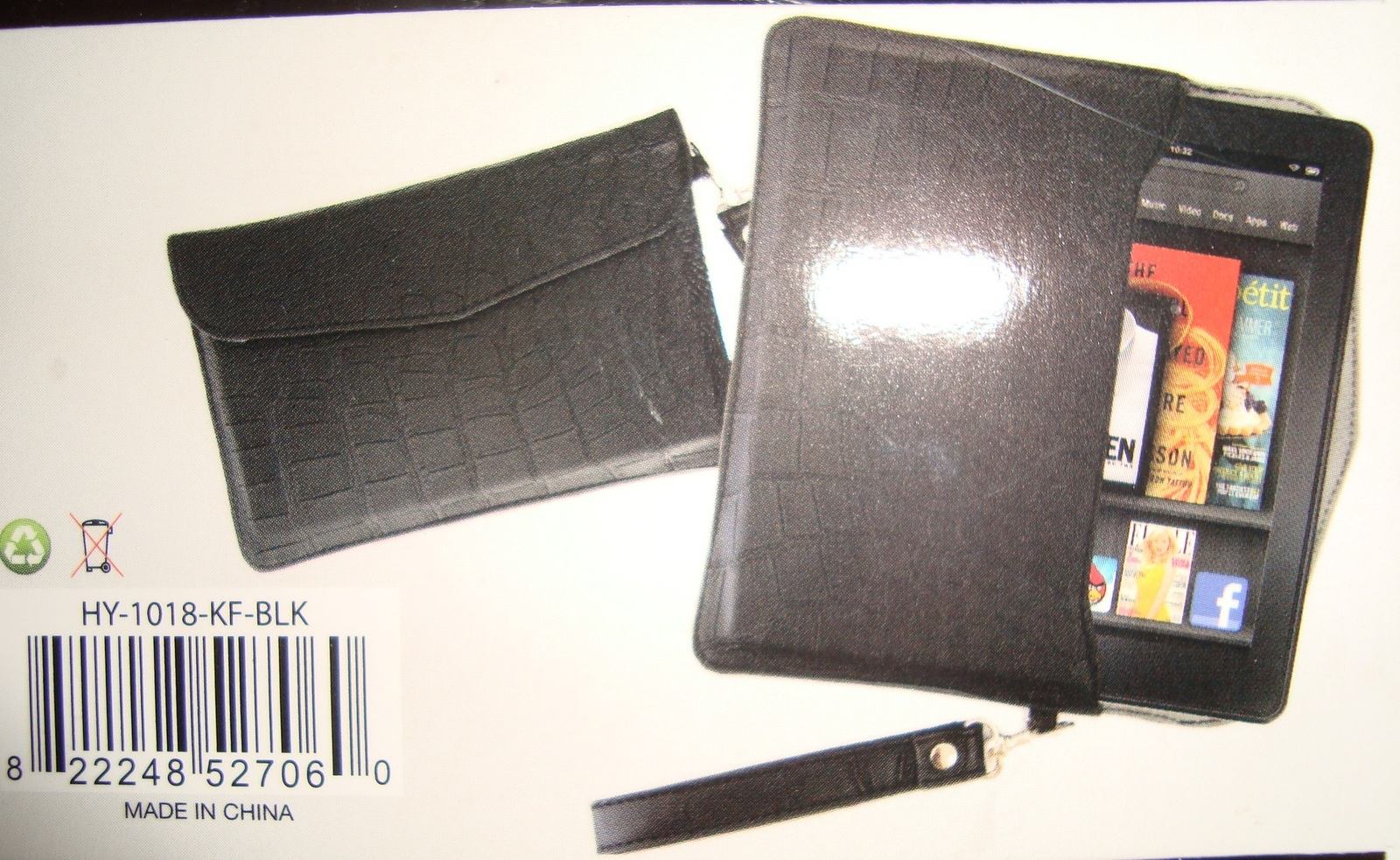 NEW - HYPE BLACK ENVELOPE CASE FOR KINDLE FIRE
