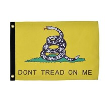 "NEW GADSDEN ""DON'T TREAD ON ME"" BOAT FLAG 12X18"" FLAG NEW BRIGHT COLORS - $16.29"
