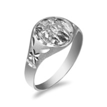 Sterling Silver Gemini Ladies Zodiac Sign Ring - £17.92 GBP