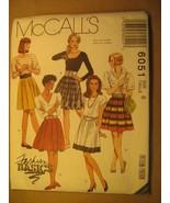 UNCUT Sewing Pattern 1992 McCALL'S 8,10 SKIRT 6051 [Z180] - $4.51