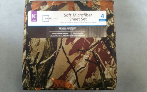 Mainstays Camo King Size Microfiber Sheet Set