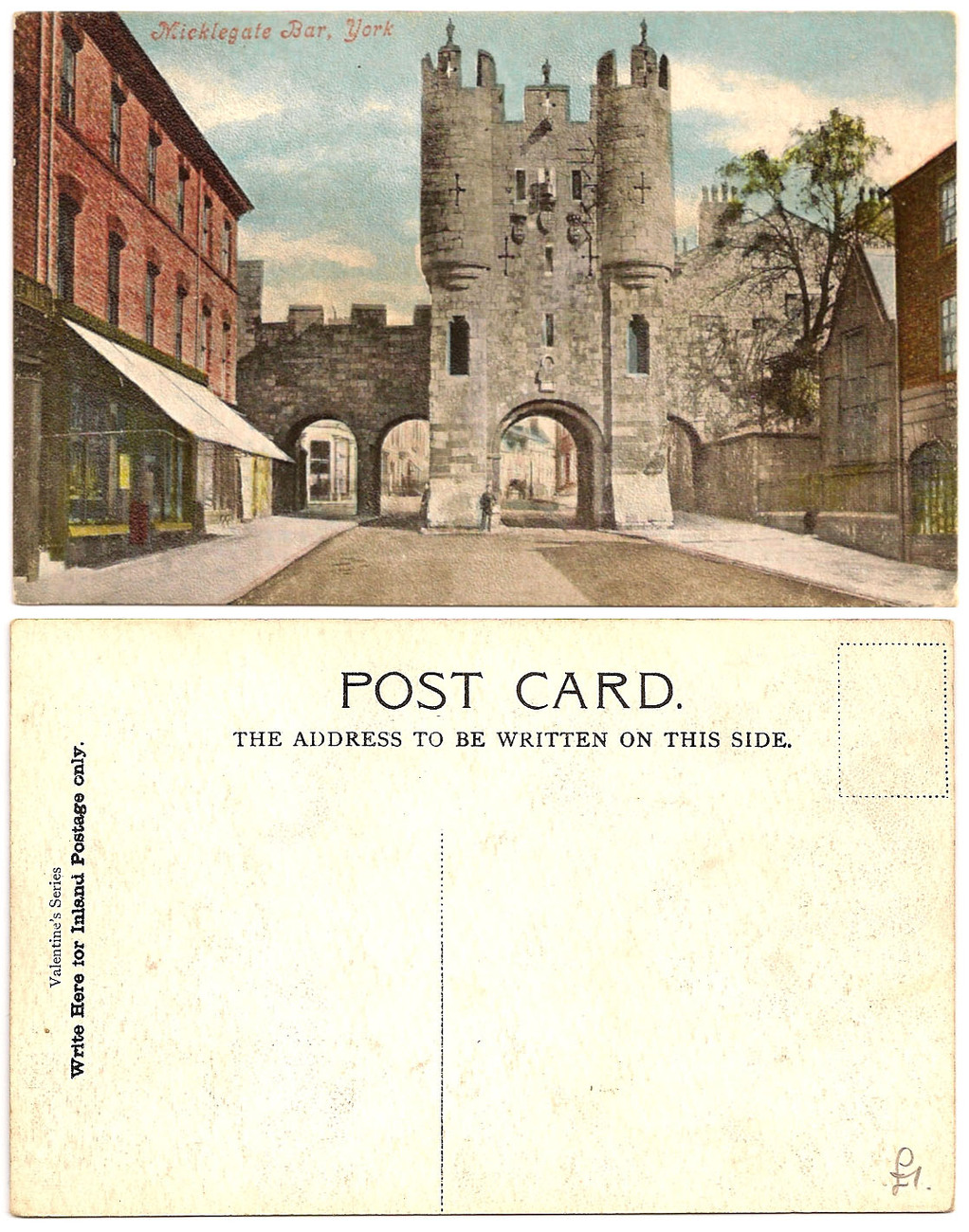 Old Postcards - Micklegate Bar, York UK