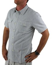 Levi's Men's Cotton Short Sleeve Plaid Button Up Shirt White 651840001 image 2
