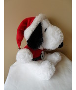 "SANTA SNOOPY Peanuts Hallmark 2007 10"" Plush Holiday Christmas Claus  - $17.34"