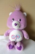 "Share Care Bear 9"" Plush Lollipops Purple 2002"" Stuffed Animal Toy Doll - $14.65"