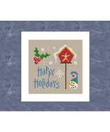 Happy Holidays snowman winter christmas PDF cross stitch charts Helga Ma... - $5.00