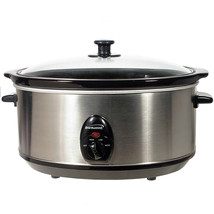 Brentwood 6.5 Quart Slow Cooker Stainless Steel - $56.13