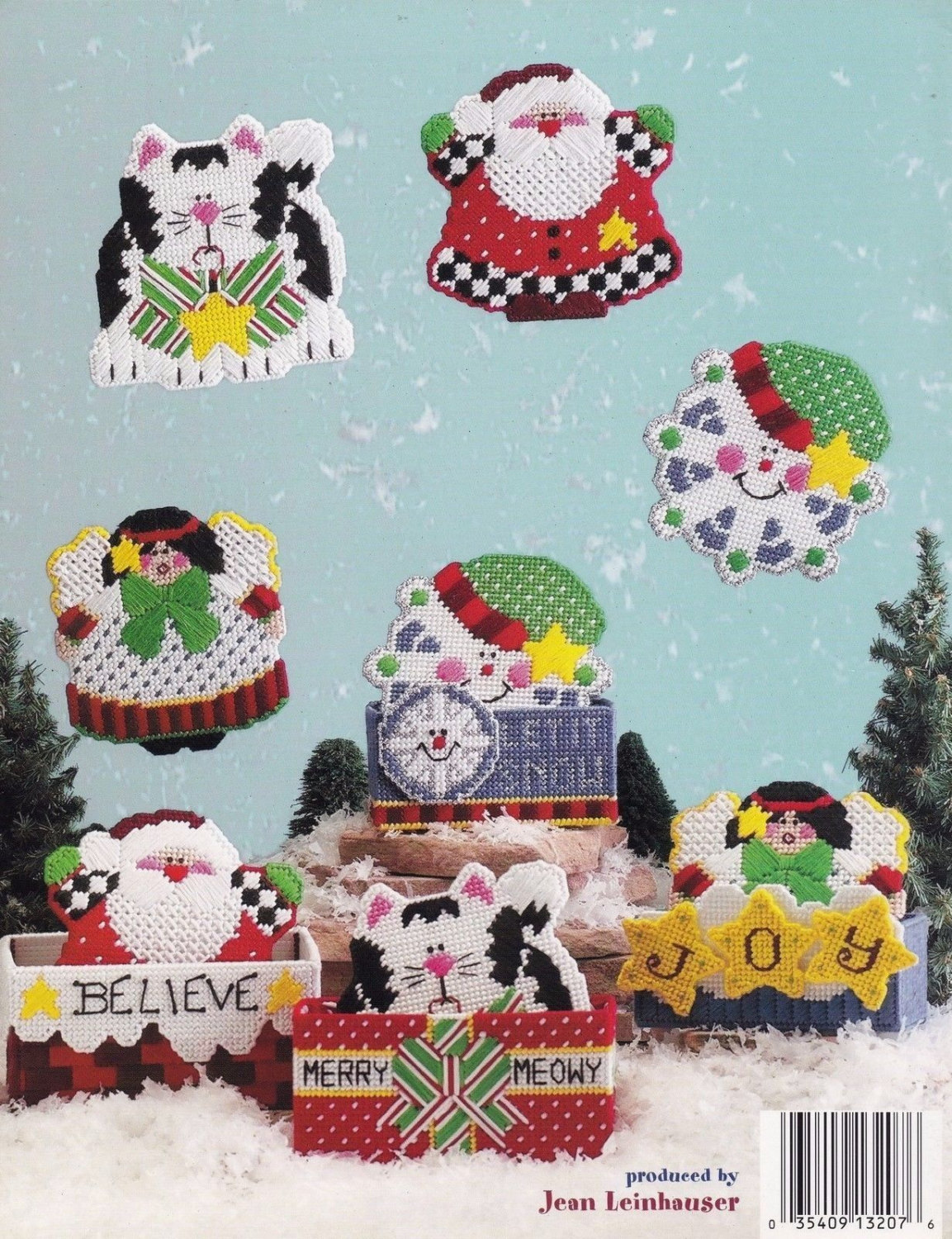 Let it Snow Christmas Coasters, Plastic Canvas Pattern Booklet ASN 3207 NEW