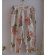 TANTRUMS-SIZE MEDIUM-LIGHT BEIGE W/CORAL COLOR FLOWERS W/BEADS IN CENTER... - $8.00