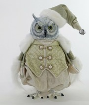 "katherine's collection snow owl doll 13"" pretty light green vest last one - $197.99"