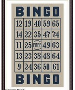 Bingo Ticket PDF cross stitch charts Helga Mandl  - $8.00