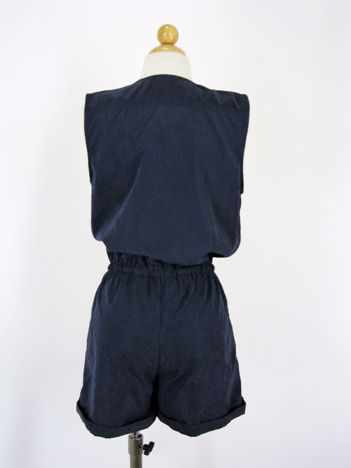 Romper Shorts Grifflin Paris Navy Blue Zipper Romper NEW $60 MSRP
