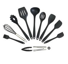 Complete Silicone Kitchen Utensil Set 10 piece Durable and Non-Stick - $21.28