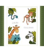 Baby Sampler animals PDF cross stitch charts Helga Mandl  - $7.00