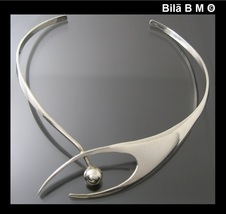 Vintage MODERNIST Sculptured CHOKER CUFF COLLAR NECKLACE - ONE Of a KIND - $675.00