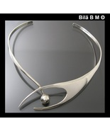 Vintage MODERNIST Sculptured CHOKER CUFF COLLAR NECKLACE - ONE Of a KIND - $879.61 CAD