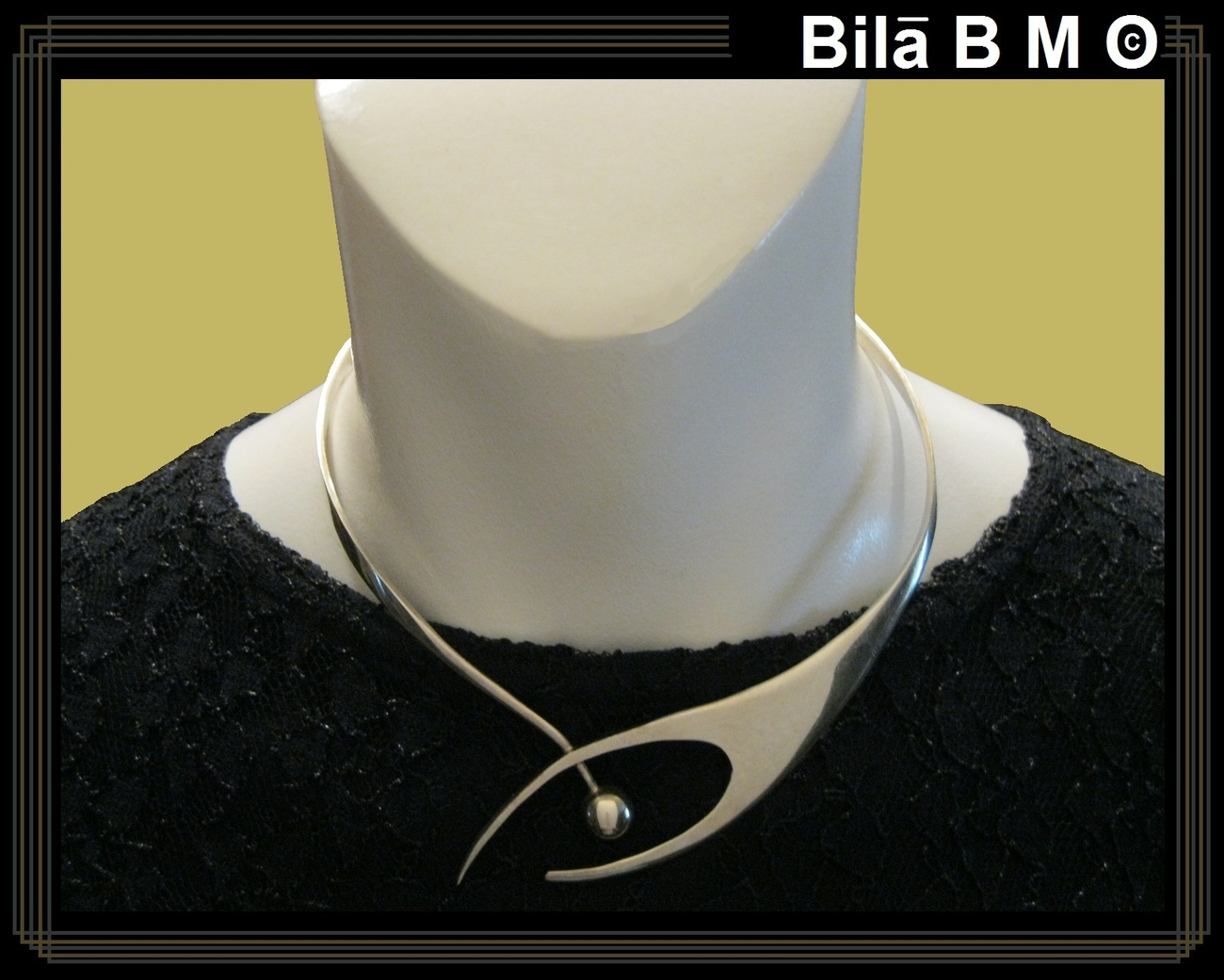 Vintage MODERNIST Sculptured CHOKER CUFF COLLAR NECKLACE - ONE Of a KIND