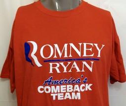 Romney Ryan America's Comeback Team Red Campaign Shirt Size XL Republican Rhino - $25.24