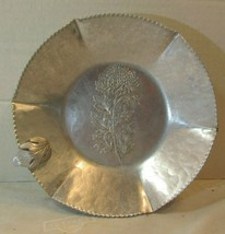 Vintage Hammered Aluminum Bowl Silverlook Hand Wrought Continental Trade... - $19.80