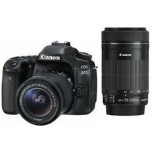 CANON EOS 80D Camera Double Zoom Lens Kit Japan Version New - $1,659.57
