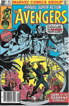 Marvel Super Action Comic Book #34 The Avengers 1981 VERY FINE- - $3.75