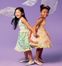 McCall Patterns M6686 Girls/Girls' Dresses, Belt and Petticoat Sewing Template,  - $14.21