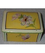 Vintage Japan Ladies Porcelain Floral Dresser Trinket Box - $11.95