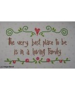 Loving Family sampler PDF cross stitch charts Helga Mandl  - $7.00