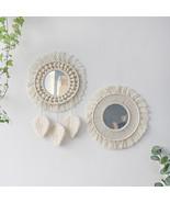 Round Mirror Macrame , Mirror Decoration, Makeup Mirror , Wall Hanging Mirror - $45.50