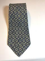Ermenegildo Zegna Tie 100% Silk  Blue and Green Wide Width - $12.86