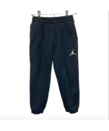 Nike Youth Boys Small Black Joggers Pants Stretch Waist 8 10 Years Jump Man - $20.78