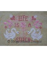Life Is A Stitch ducks geese PDF cross stitch c... - $7.00