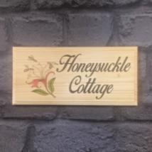 Personalised Honeysuckle Sign, House Name Number Cottage Flower Garden S... - $12.01