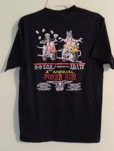 Vintage Motorcycle Medium T Shirt Poker Run Mercer Co Pa Black Short Sle... - $10.39