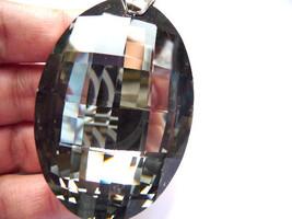 Oval Pendant, oval crystal, focal pendant, focal crystal, big crystal, h... - $32.00