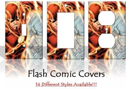 The Flash Justice League DC Comics Light Switch Covers Home Decor Outlet - $6.89+