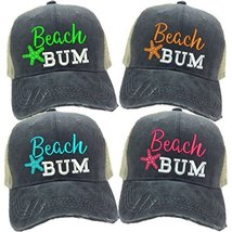 "ac30012d Adult Custom Distressed Funny Trucker Hat ""Beach Bum"" ..."