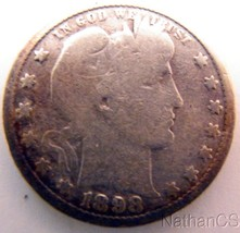 1898 Barber Quarter USA - $11.30