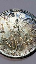1992 Mo 1 ounce SILVER ONZA LIBERTAD MEXICO Toned Coin  image 3