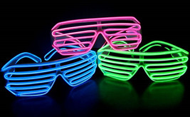 Glow Shutter Shades - 3-Mode Sound Activated Sunglasses, Black or White ... - $22.99