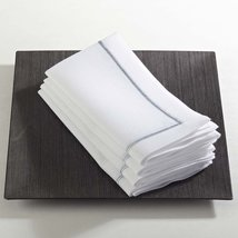 Fennco Styles Embroidered Line Design Napkins, Set of 4, Many Colors (Pl... - $24.74